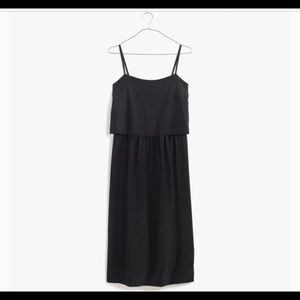 Madewell cami overlay silk dress black